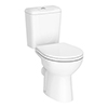 Melbourne Ceramic Close Coupled Modern Toilet profile small image view 1
