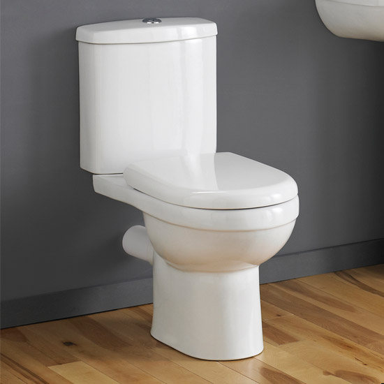 Premier - Ivo Ceramic Close Coupled Toilet with Soft-close Seat profile large image view 2