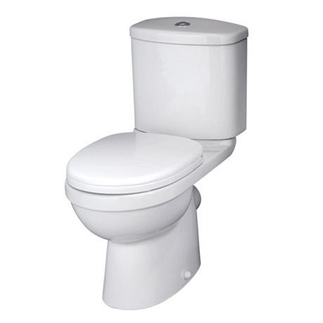 Premier - Ivo Ceramic Close Coupled Toilet with Soft-close Seat