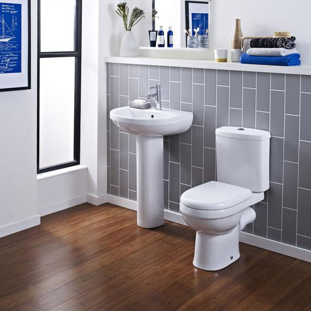 Premier - Ivo Ceramic Close Coupled Toilet with Soft-close Seat profile large image view 3