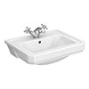 Carlton 560 x 450mm 1TH Semi Recessed Basin - NCS808A Medium Image
