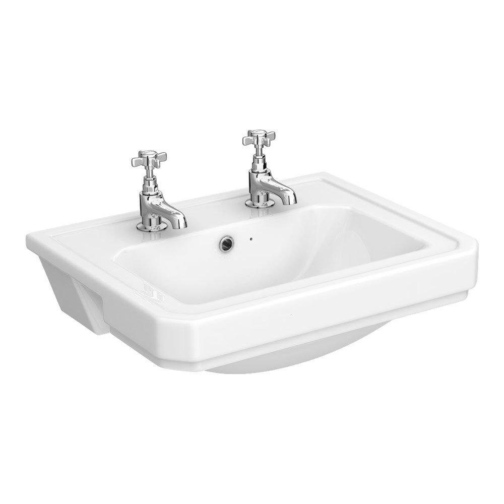 Carlton 560 x 450 2TH Semi Recessed Basin - NCS808
