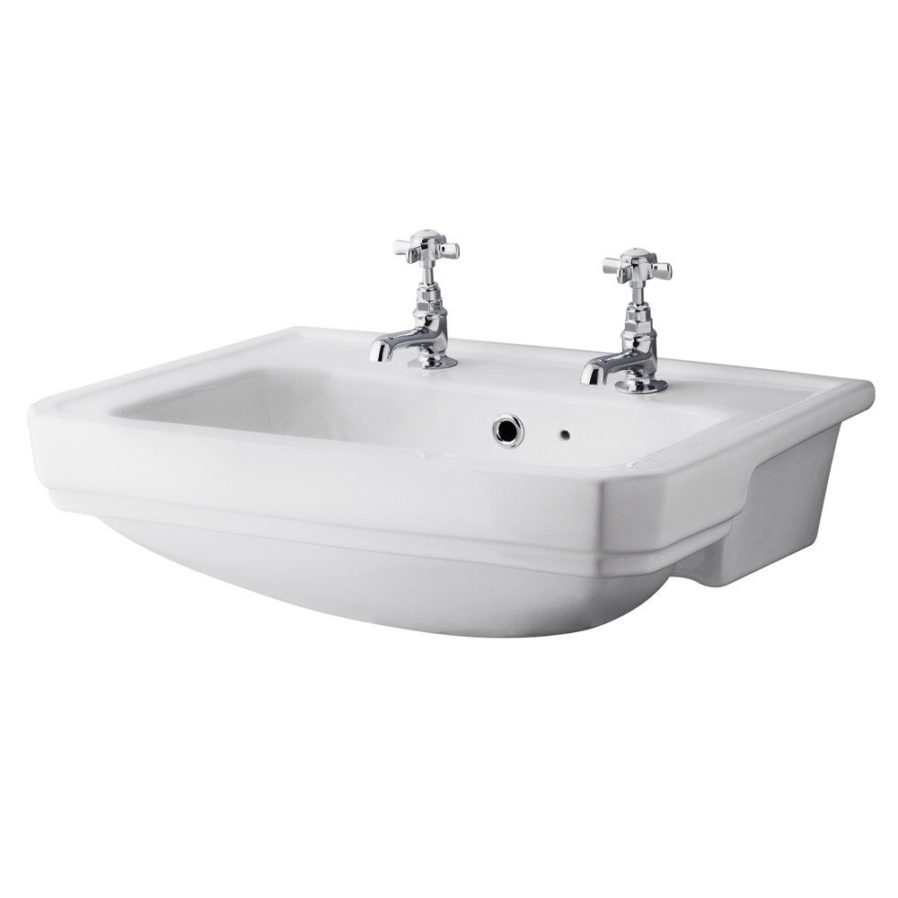 Carlton 560 X 450 2TH Semi Recessed Basin   NCS808