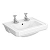 Carlton 560 x 450 2TH Semi Recessed Basin - NCS808 profile small image view 1