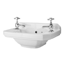 Carlton 515mm Traditional Cloakroom Basin (2 Tap Hole - Depth 300mm) Medium Image