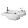 Carlton 515mm Traditional Cloakroom Basin (2 Tap Hole - Depth 300mm) profile small image view 1