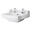 Carlton/Richmond 560mm Medium 2 Tap Hole Basin - NCS884 profile small image view 1