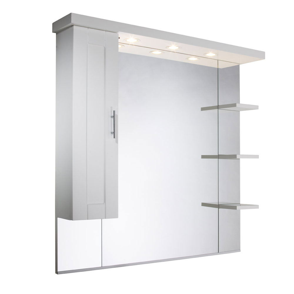 Roper Rhodes New England 1000mm Mirror with Shelves, Cupboard & Canopy profile large image view 1