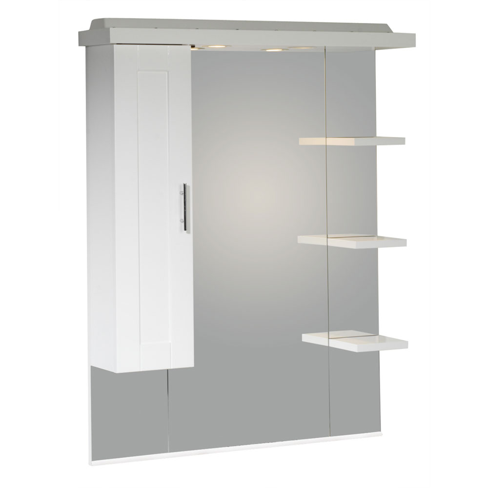 Roper Rhodes New England 800mm Mirror with Shelves, Cupboard & Canopy profile large image view 1