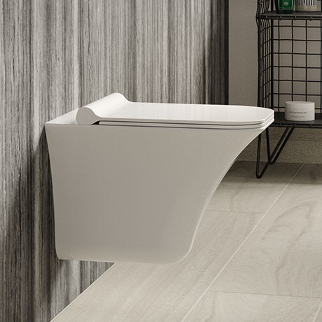 Hudson Reed Grace Rimless Wall Hung Pan & Soft Close Seat - NCT140