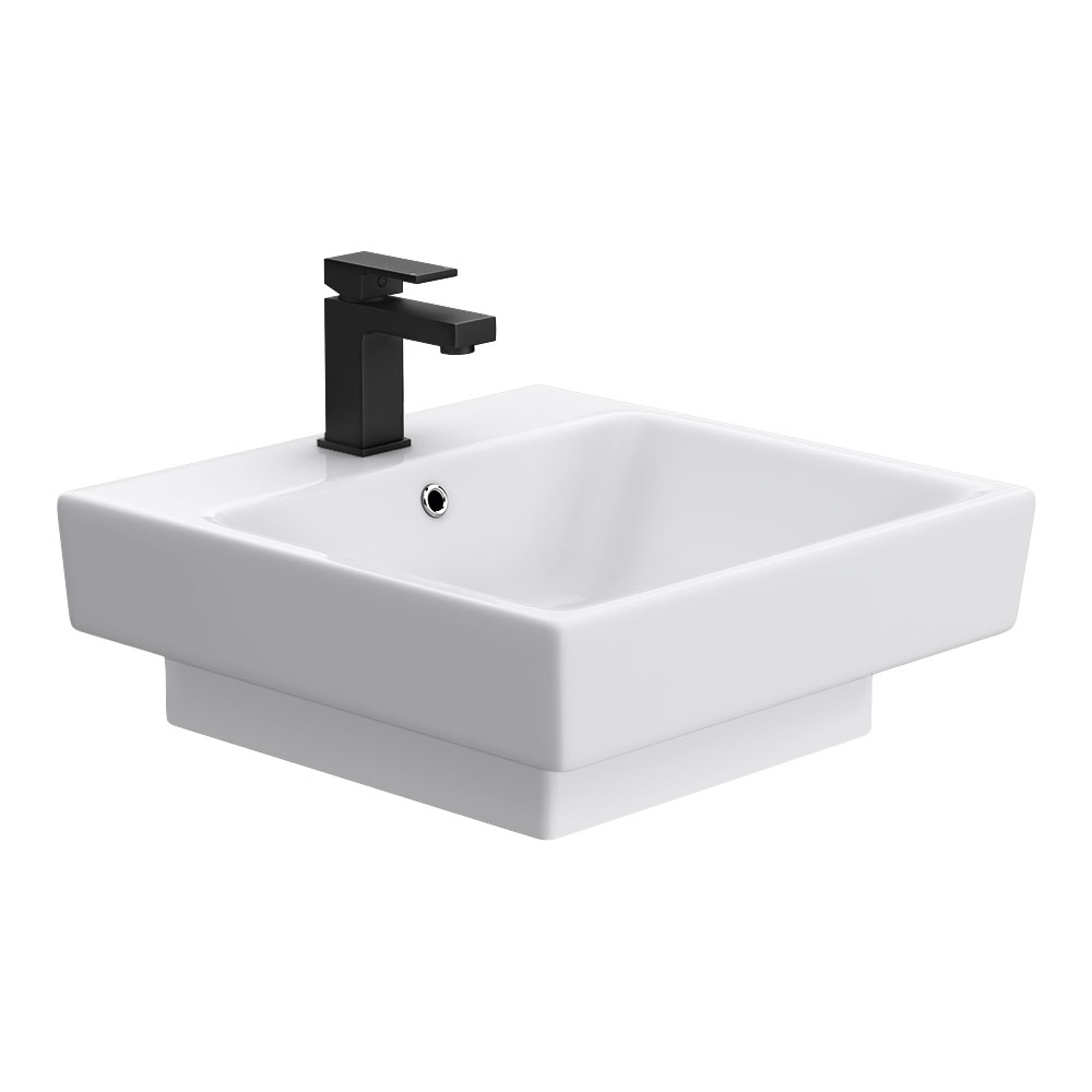 Novus 510 x 515mm Square Ceramic Counter Top Basin - 1 Tap Hole