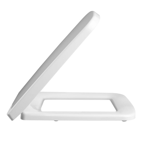 Premier Square Soft Close Toilet Seat with Top Fix - NCU799 Profile Large Image