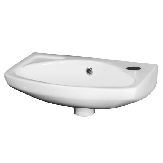 Nuie 450mm Wall Hung Cloakroom Basin - 1 Tap Hole - NCU842