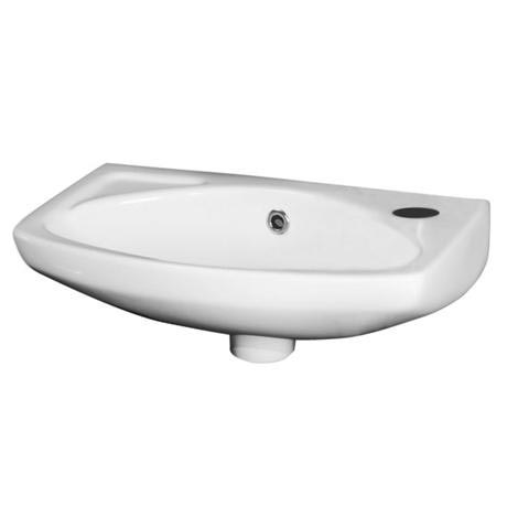 Premier - 450mm Wall Hung Cloakroom Basin - 1 Tap Hole - NCU842