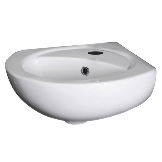 Premier - Corner Wall Hung Basin - 1 Tap Hole - NCU862 profile large image view 2