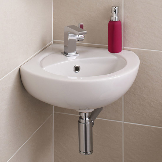 Premier - Corner Wall Hung Basin - 1 Tap Hole - NCU862 profile large image view 1