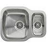 Reginox Nebraska 1.5 Bowl Stainless Steel Undermount Kitchen Sink profile small image view 1