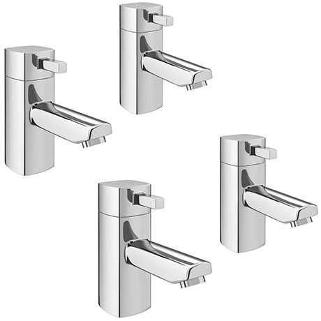 Neo Modern Basin + Bath Tap Set