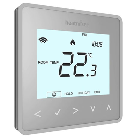 Heatmiser neoAir v2 Wireless Smart Thermostat - Platinum Silver