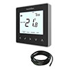 Heatmiser neoStat-e V2 - Electric Floor Heating Thermostat - Sapphire Black profile small image view 1