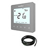 Heatmiser neoStat-e V2 - Electric Floor Heating Thermostat - Platinum Silver profile small image view 1