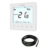 Heatmiser neoStat-e V2 - Electric Floor Heating Thermostat - Glacier White profile small image view 1