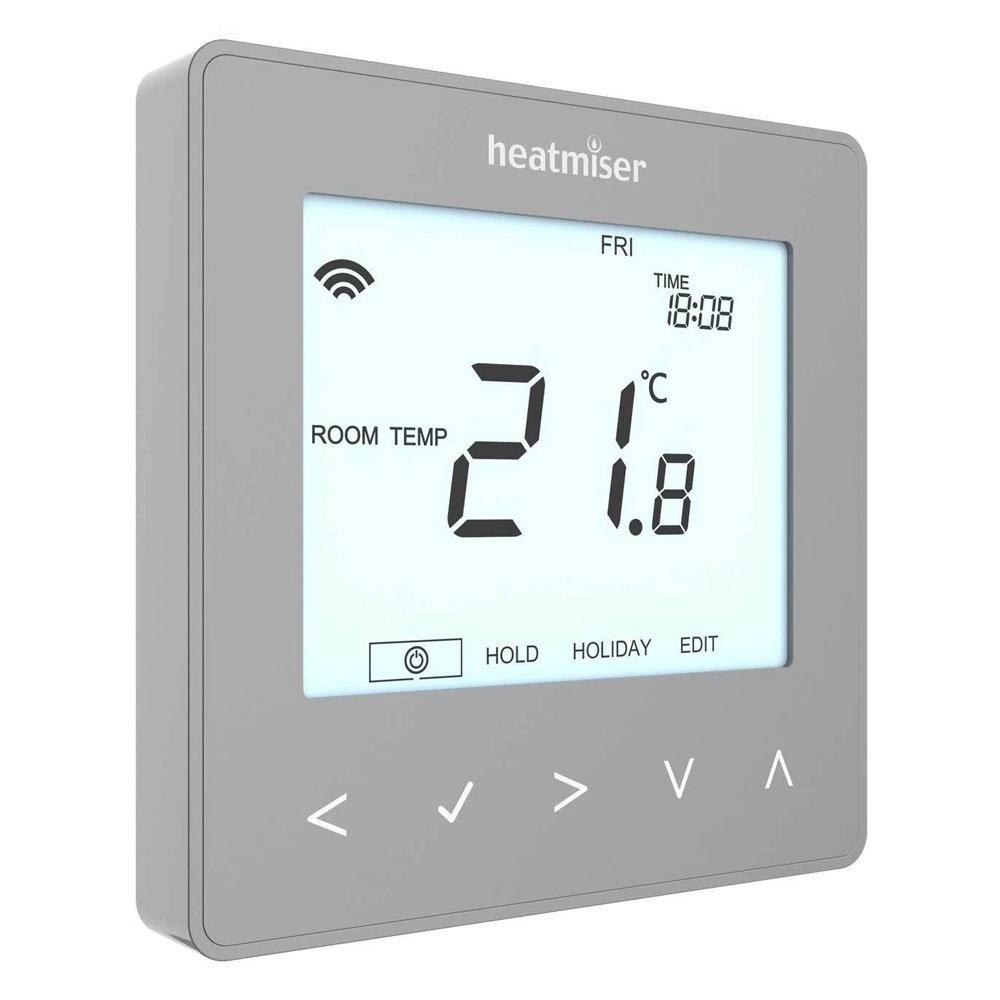 Heatmiser neoStat V2 - Programmable Thermostat - Platinum Silver