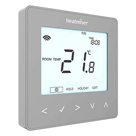 Heatmiser neoStat V2 - Programmable Thermostat - Platinum Silver