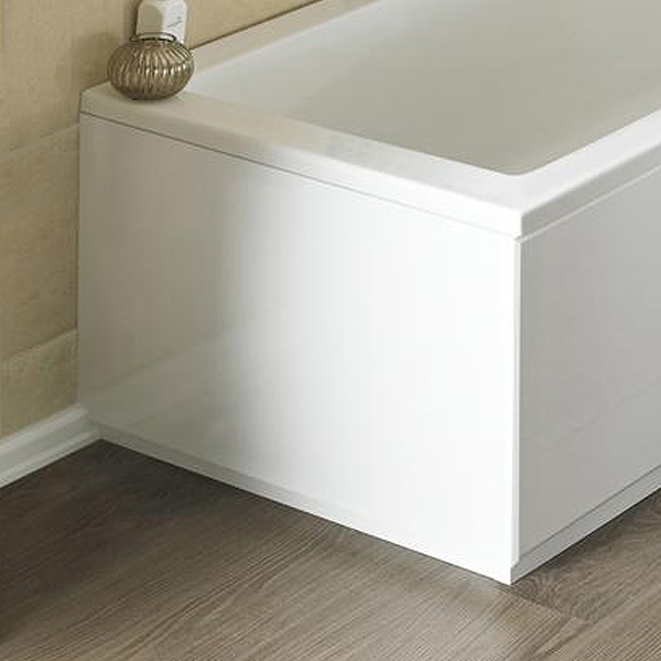 Nuie Gloss White MDF Bath End Panel
