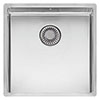 Reginox New York 40x40 1.0 Bowl Stainless Steel Integrated Kitchen Sink profile small image view 1