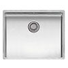 Reginox New York 50x40 1.0 Bowl Stainless Steel Integrated Kitchen Sink profile small image view 1