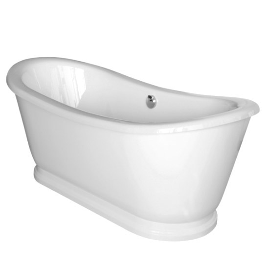 Premier Alice 1750 Double Ended Roll Top Slipper Bath with Skirt profile large image view 3