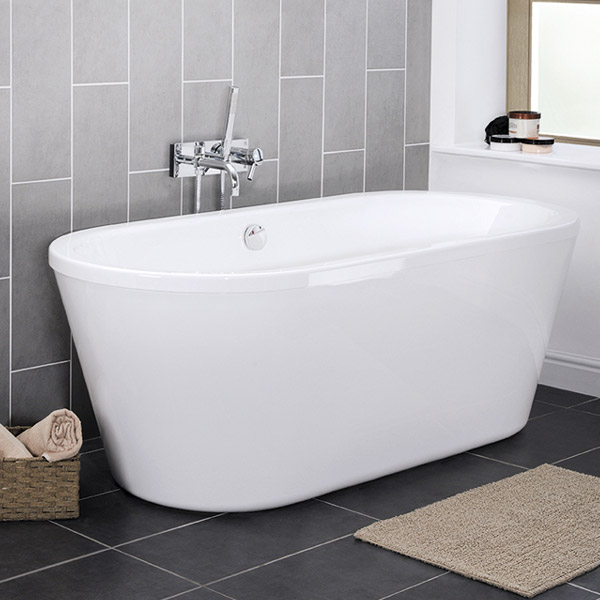 Pool 1750 Double Ended Round Freestanding Bath NFB005 At