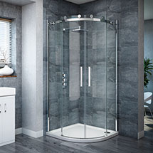 Nova Frameless Quadrant Shower Enclosure Medium Image