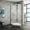 Nova Frameless Quadrant Shower Enclosure profile small image view 1