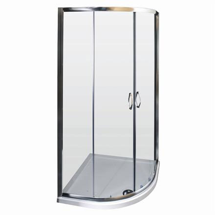 Ella Quadrant Shower Enclosure with Pearlstone Tray - 800 x 800mm - ERQ8-NTP105  Profile Large Image