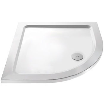 Ella Quadrant Shower Enclosure with Pearlstone Tray - 800 x 800mm - ERQ8-NTP105  Feature Large Image