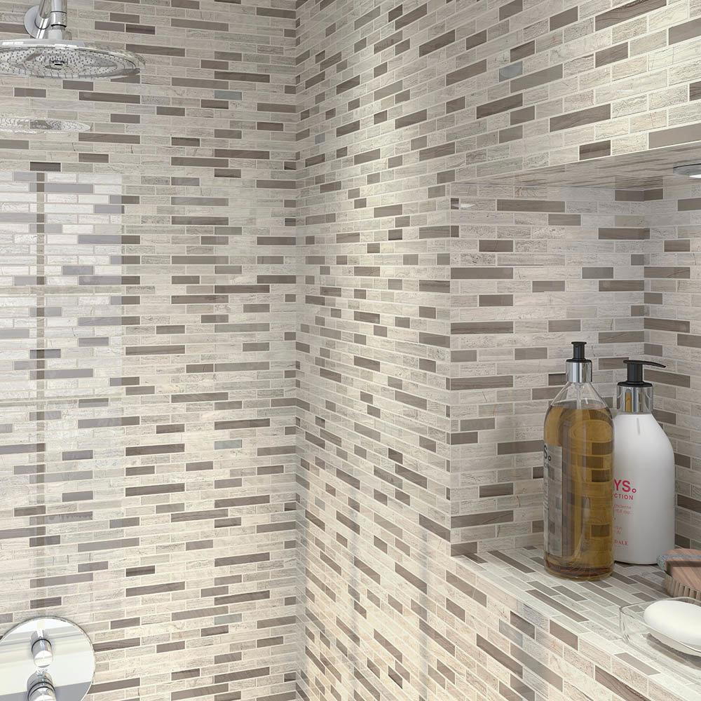 Nile Stone Mosaic Tile Sheet - 298 x 305mm