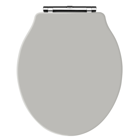 Old London - Stone Grey Soft Close Toilet Seat (For Chancery Toilets) - NLS498