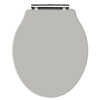 Old London - Stone Grey Soft Close Toilet Seat (For Chancery Toilets) - NLS498 profile small image view 1