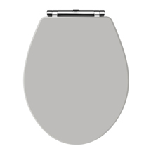 Old London Stone Grey Wooden Soft Close Seat For Richmond Toilets - NLS499 Medium Image