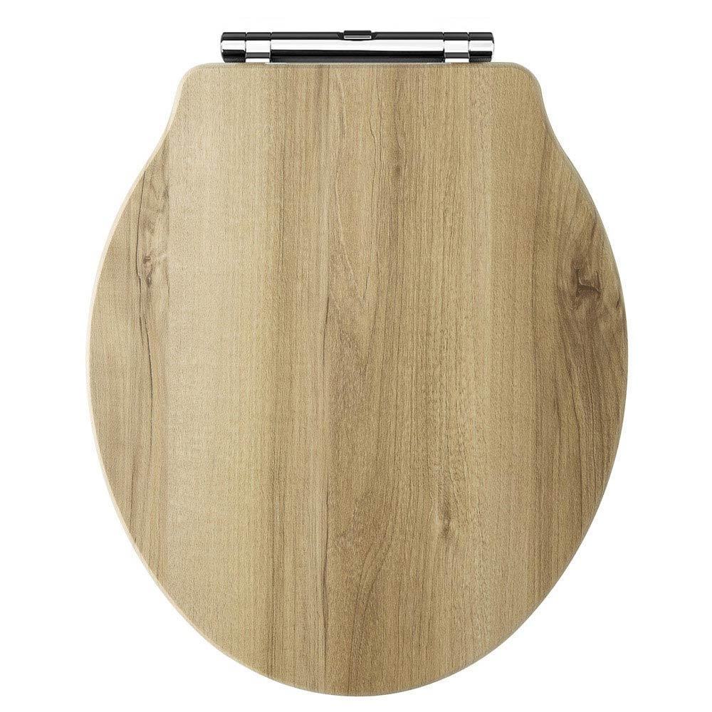Old London - Natural Walnut Soft Close Toilet Seat (For Chancery Toilets) - NLS598 Large Image