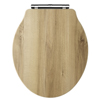 Old London - Natural Walnut Soft Close Toilet Seat (For Chancery Toilets) - NLS598 profile small image view 1