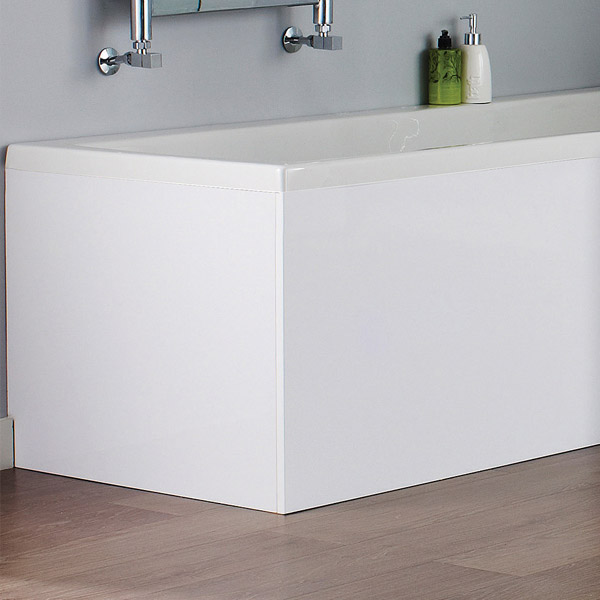 Turin White MDF 700mm End Bath Panel - NMP131 profile large image view 2