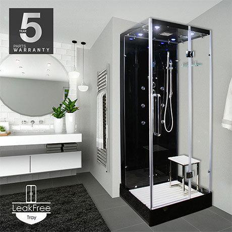 Insignia Noire 900 x 900mm Square Corner Shower Cabin
