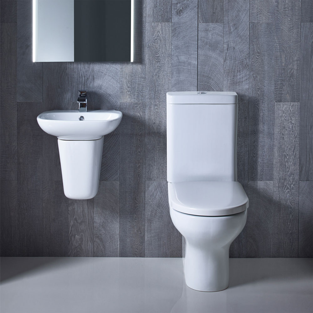 Roper Rhodes Note 450mm Wall Mounted or Countertop Basin - N45SB profile large image view 3