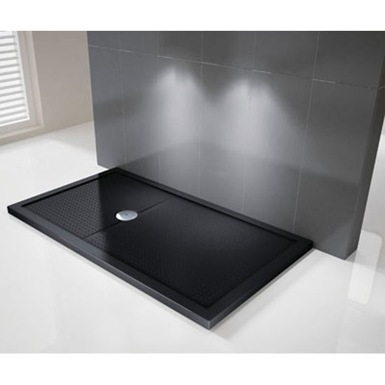 Novellini Olympic 125mm Methacrylate Shower Tray - Black Large Image
