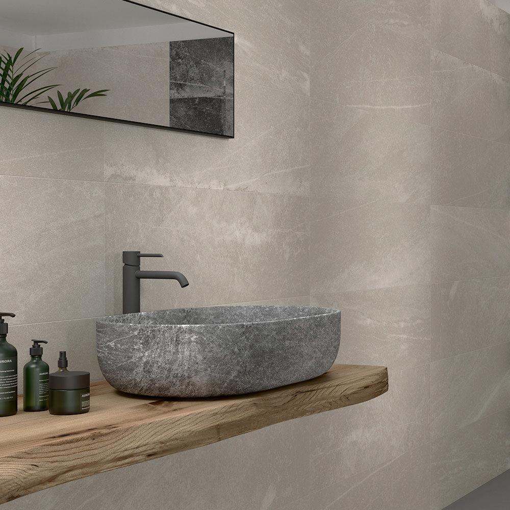 Novus Greige Stone Effect Wall Tiles - 300 x 900mm
