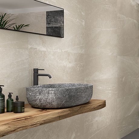 Novus Beige Stone Effect Wall Tiles - 300 x 900mm