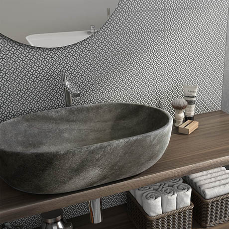 Novus Grey Decor Wall Tiles - 75 x 300mm